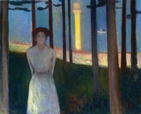 La voz, óleo sobre tela (Munch)